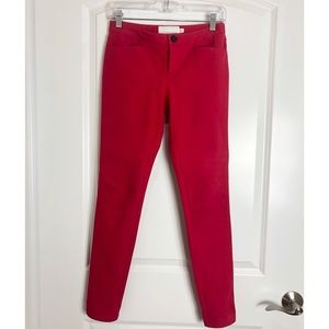 Chaiken Red Skinny Pants Sz 0